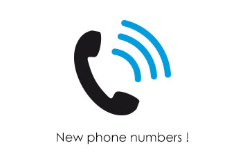 Our phone numbers have changed!